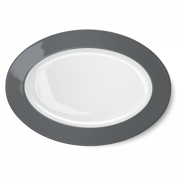 Oval Platter Anthracite (36cm)