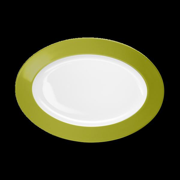 Oval Platter Olive Green (33cm)