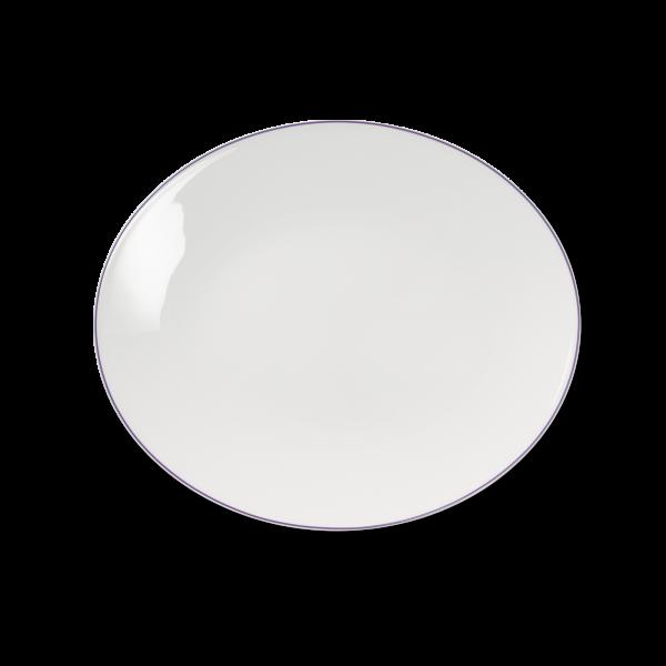 Ovale Platte Flieder (32cm)