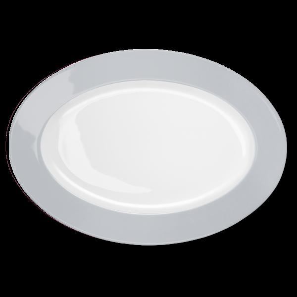 Oval Platter Light Grey (36cm)