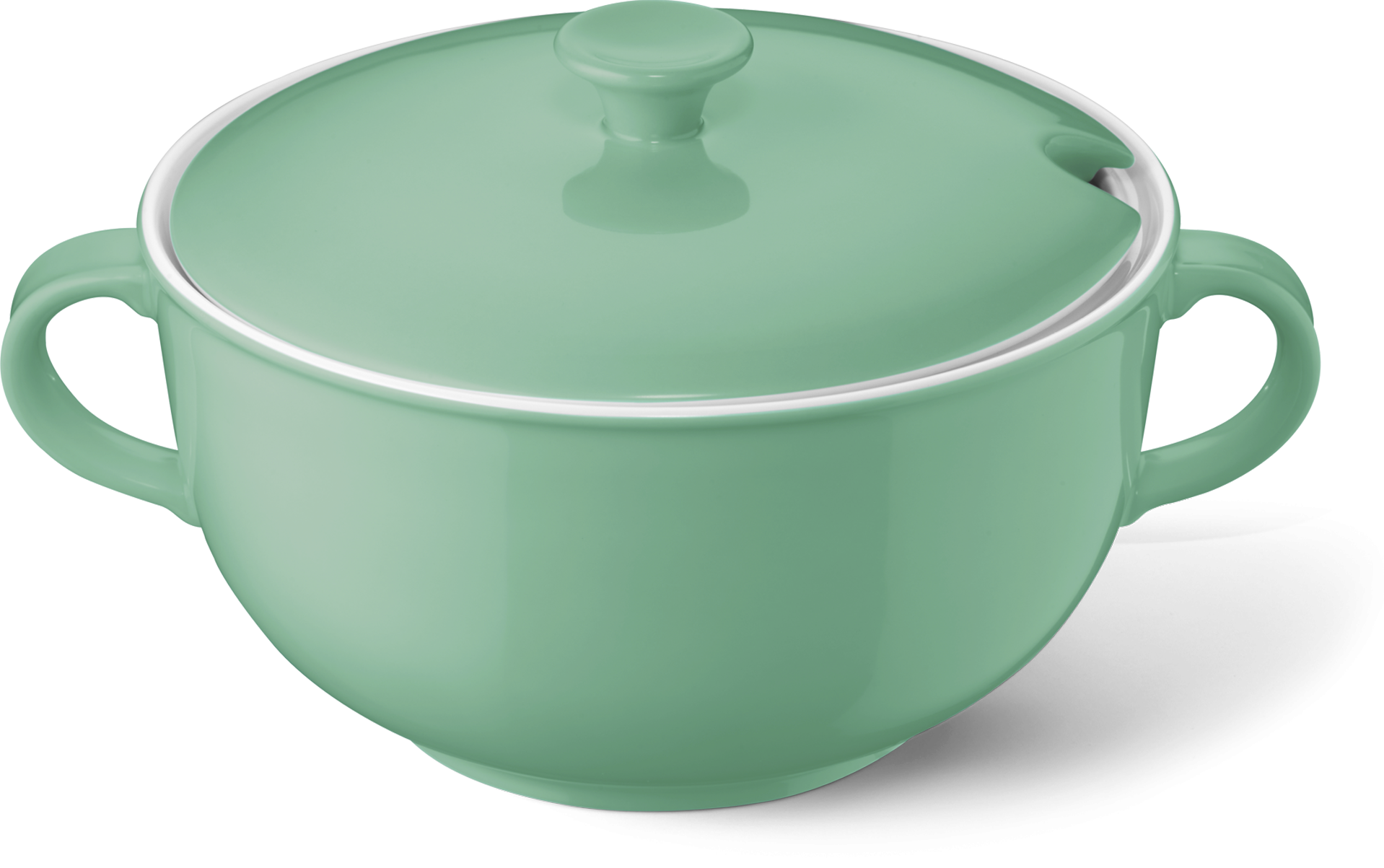 Soup tureen without lid emerald