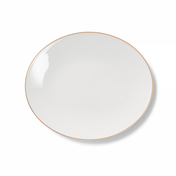 Ovale Platte Orange (32cm)