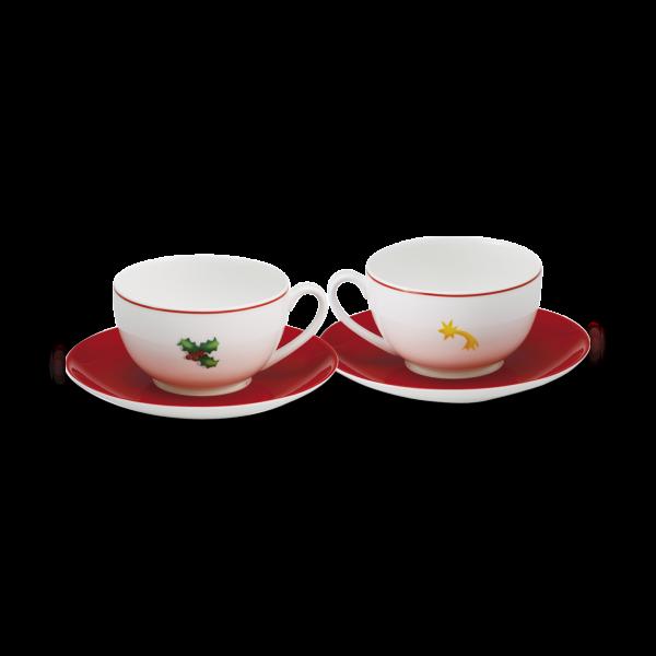 Set Kaffeetasse Ilex&Sternschnuppe (0,25l)