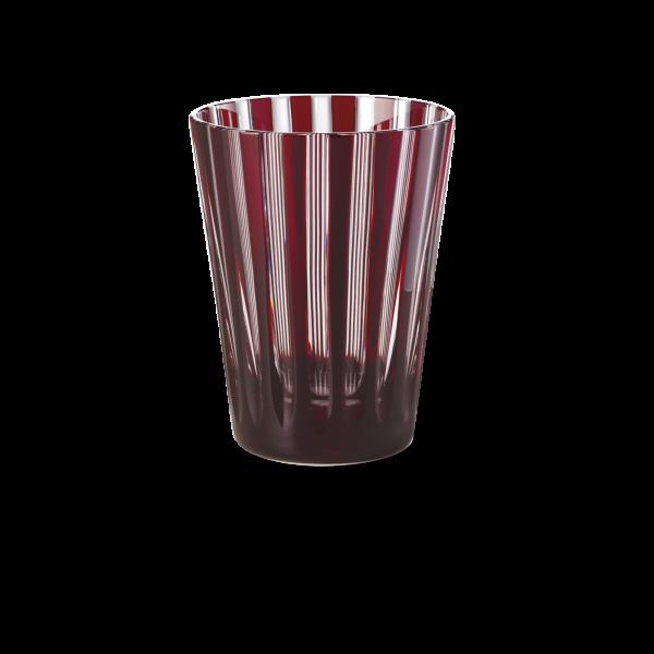 Glas 0,33 l kupferrubin stripes