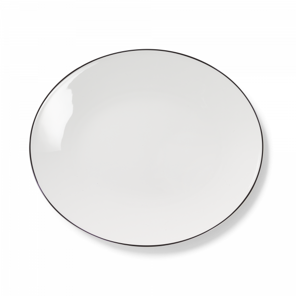 Ovale Platte Schwarz (39cm)