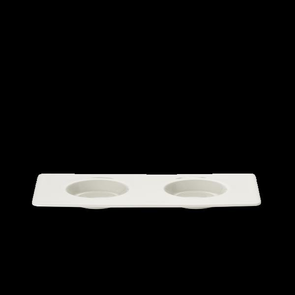 Tablett 12x25 cm mit 2 spiegeln weiss