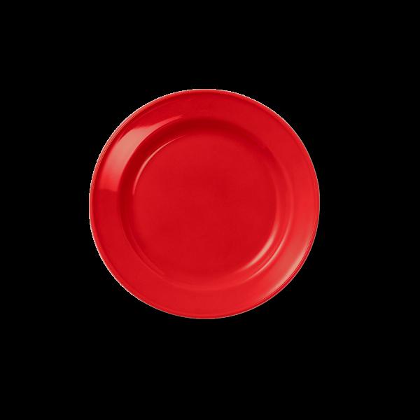 Dessert Plate full decor Bright Red (19cm)