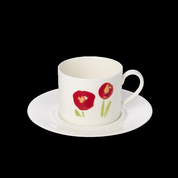Set Kaffeetasse Mohn rot (0,25l)