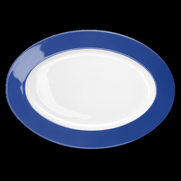 Ovale Platte Kornblume (36cm)