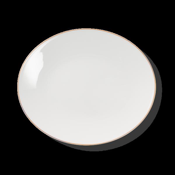 Ovale Platte Orange (39cm)
