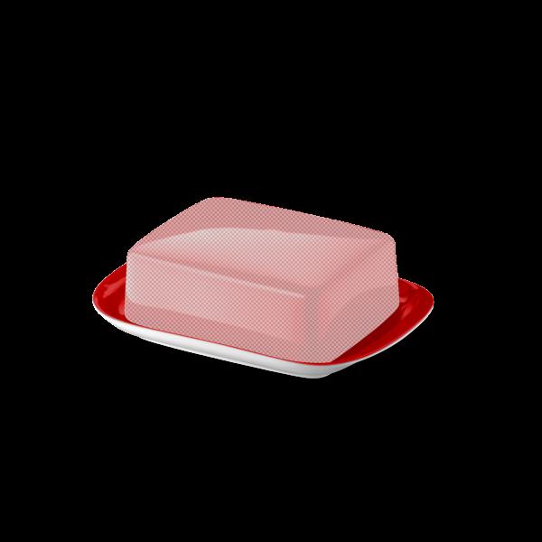Butterdose Untere Signalrot