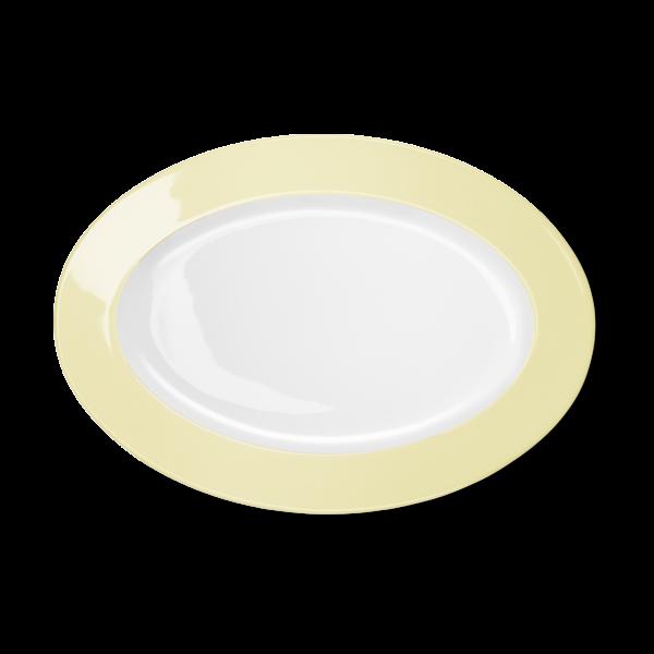 Oval Platter Vanilla (33cm)