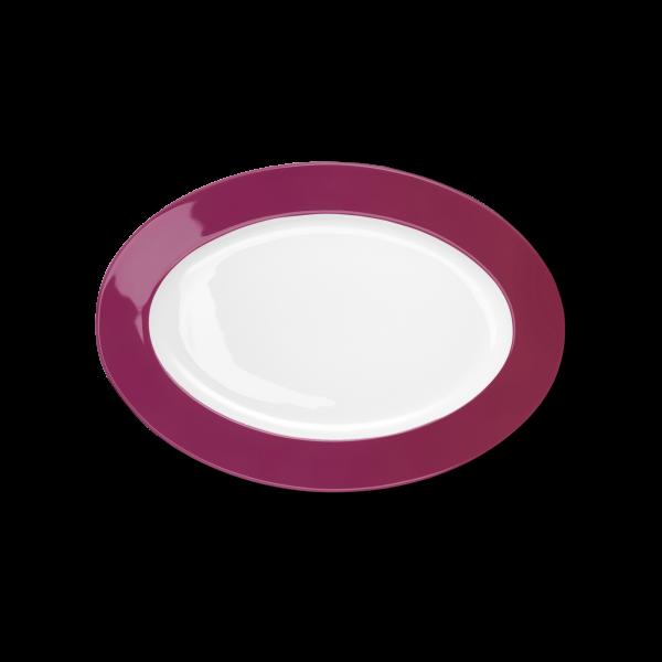 Oval Platter Raspberry (29cm)