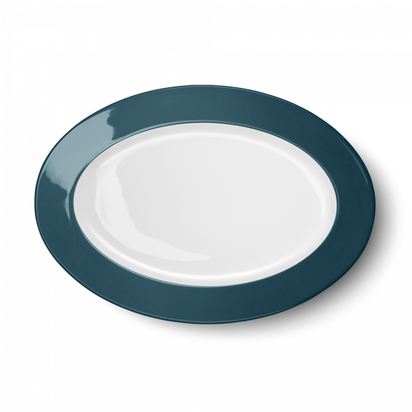 Ovale Platte Petrol (33cm)