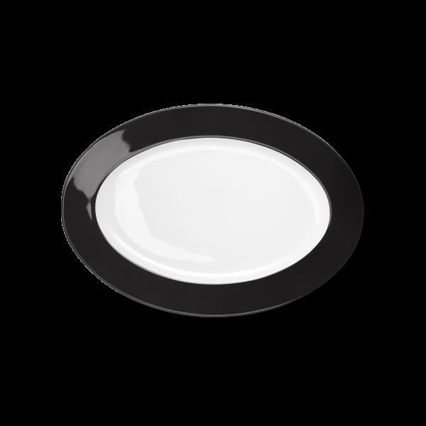 Ovale Platte Schwarz (29cm)