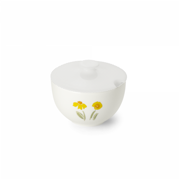 Unterteil Zuckerdose rund gelb