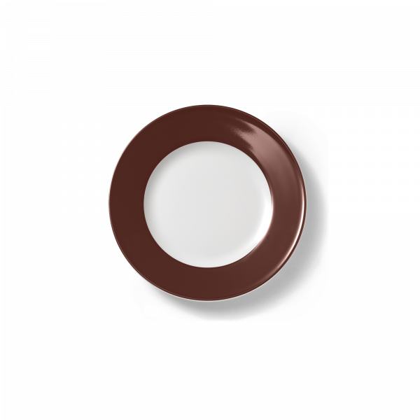 Brotteller Kaffeebraun (17cm)