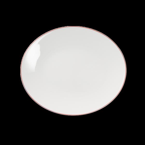 Ovale Platte Rot (32cm)
