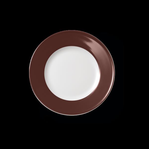 Dessertteller Kaffeebraun (21cm)
