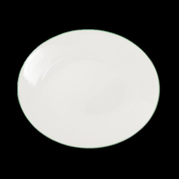 Ovale Platte Grün (39cm)