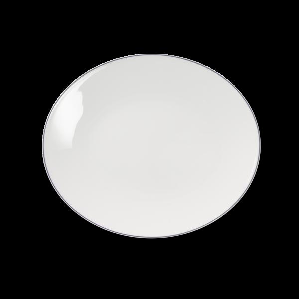 Ovale Platte Grau (32cm)