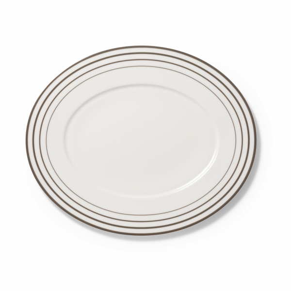 Ovale Platte Anthrazit (39cm)