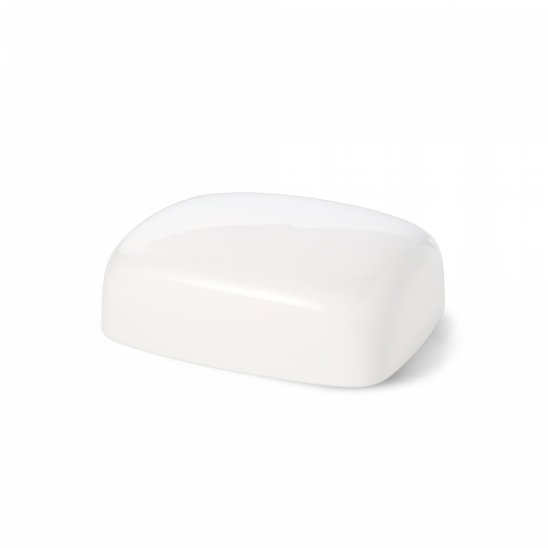Flat of butter dish small white