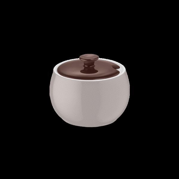 Deckel für Zuckerdose Kaffeebraun