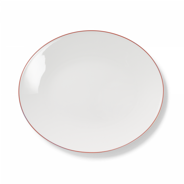 Ovale Platte Rot (39cm)