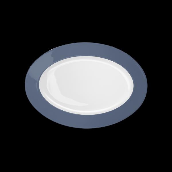 Ovale Platte Indigo (29cm)