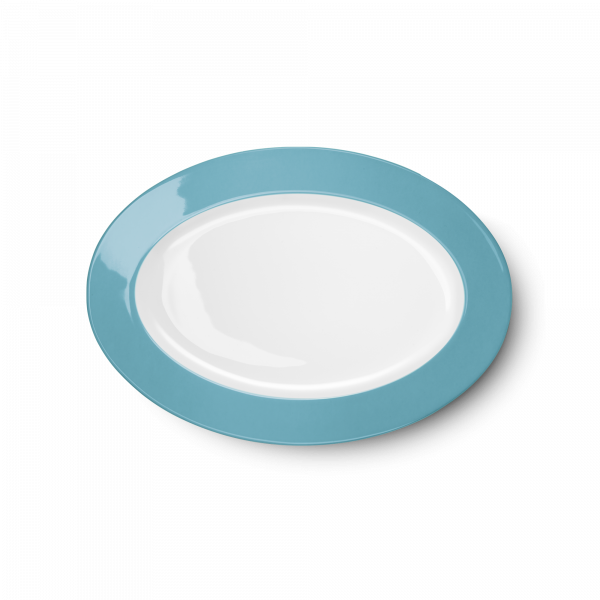 Ovale Platte Malibu Türkis (29cm)