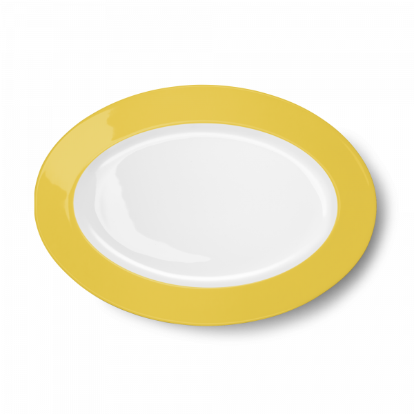 Ovale Platte Sonnengelb (33cm)