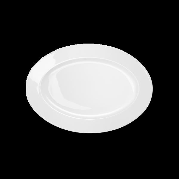 Ovale Platte Weiß (29cm)