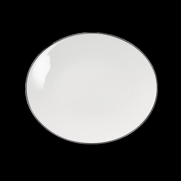 Ovale Platte Schwarz (32cm)