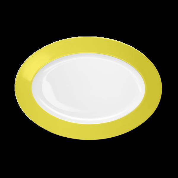 Oval Platter Lemon (33cm)