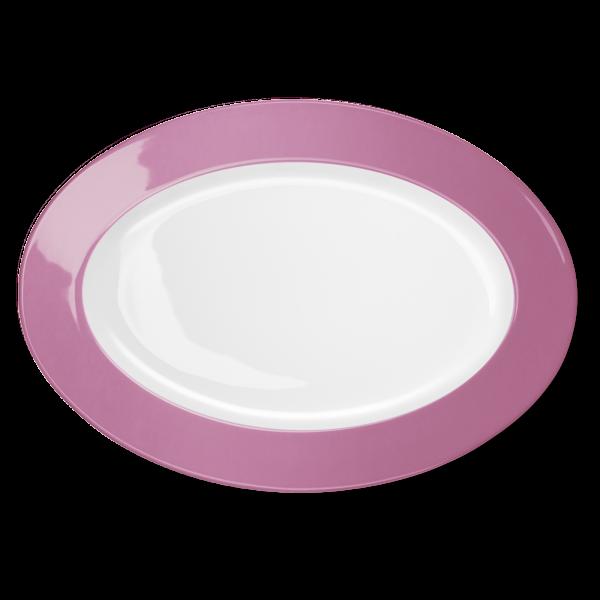 Ovale Platte Pink (36cm)
