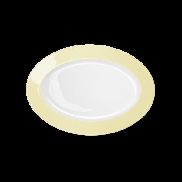 Oval Platter Vanilla (29cm)
