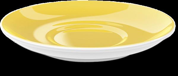 Cappuccino Untertasse Sonnengelb (16cm)