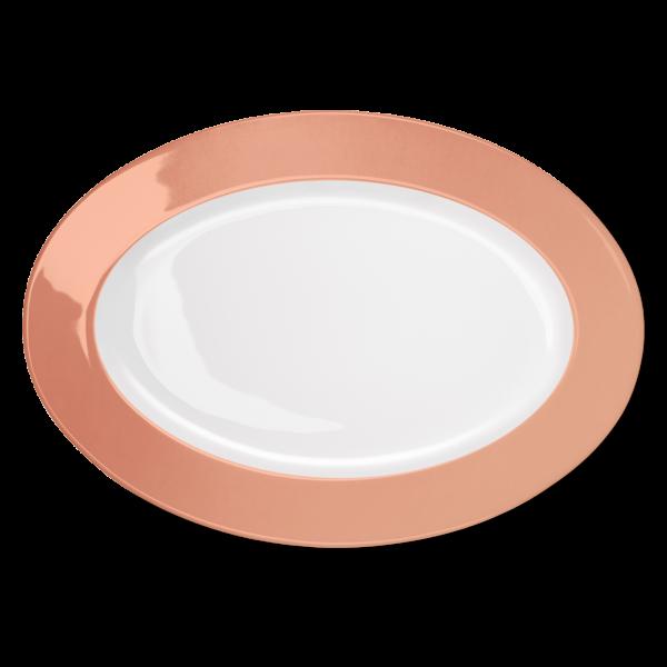 Ovale Platte Blush (36cm)