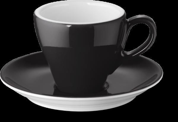 Set Espressotasse Schwarz (0,09l)