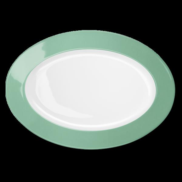 Ovale Platte Smaragd (36cm)