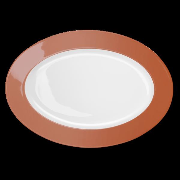 Ovale Platte Papaya (36cm)