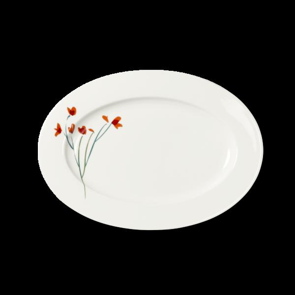 Ovale Platte Rot (34cm)