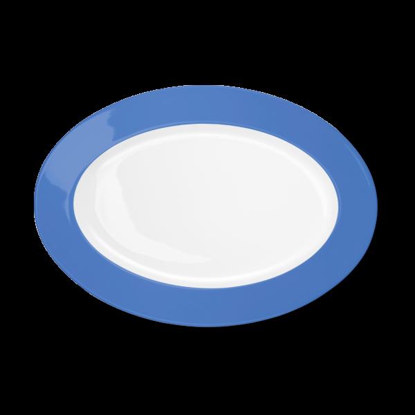 Ovale Platte Lavendelblau (33cm)