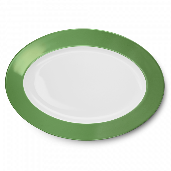 Ovale Platte Apfelgrün (36cm)