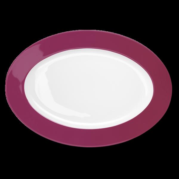 Ovale Platte Himbeere (36cm)